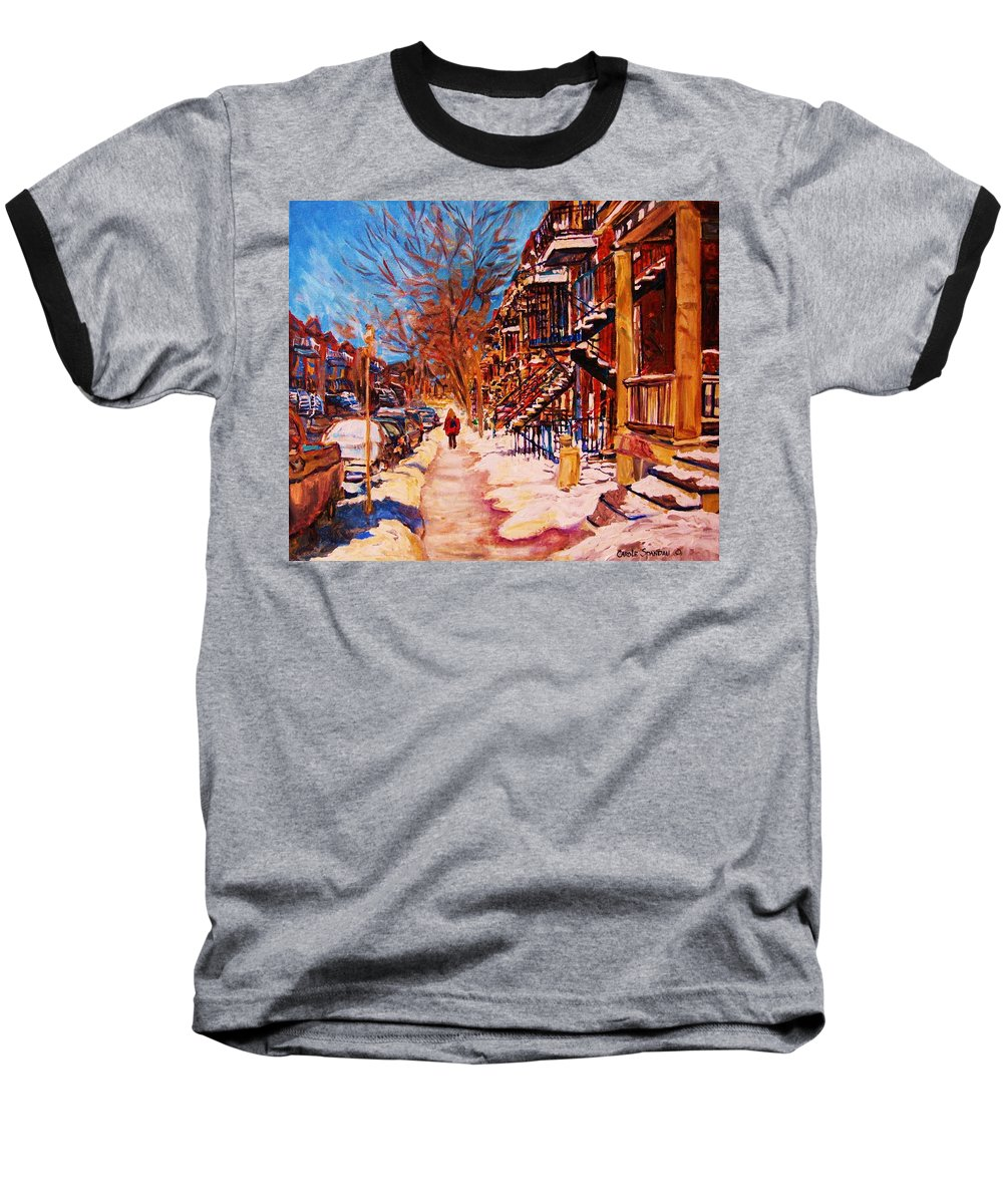 Children Baseball T-Shirt featuring the painting Girl In The Red Jacket by Carole Spandau