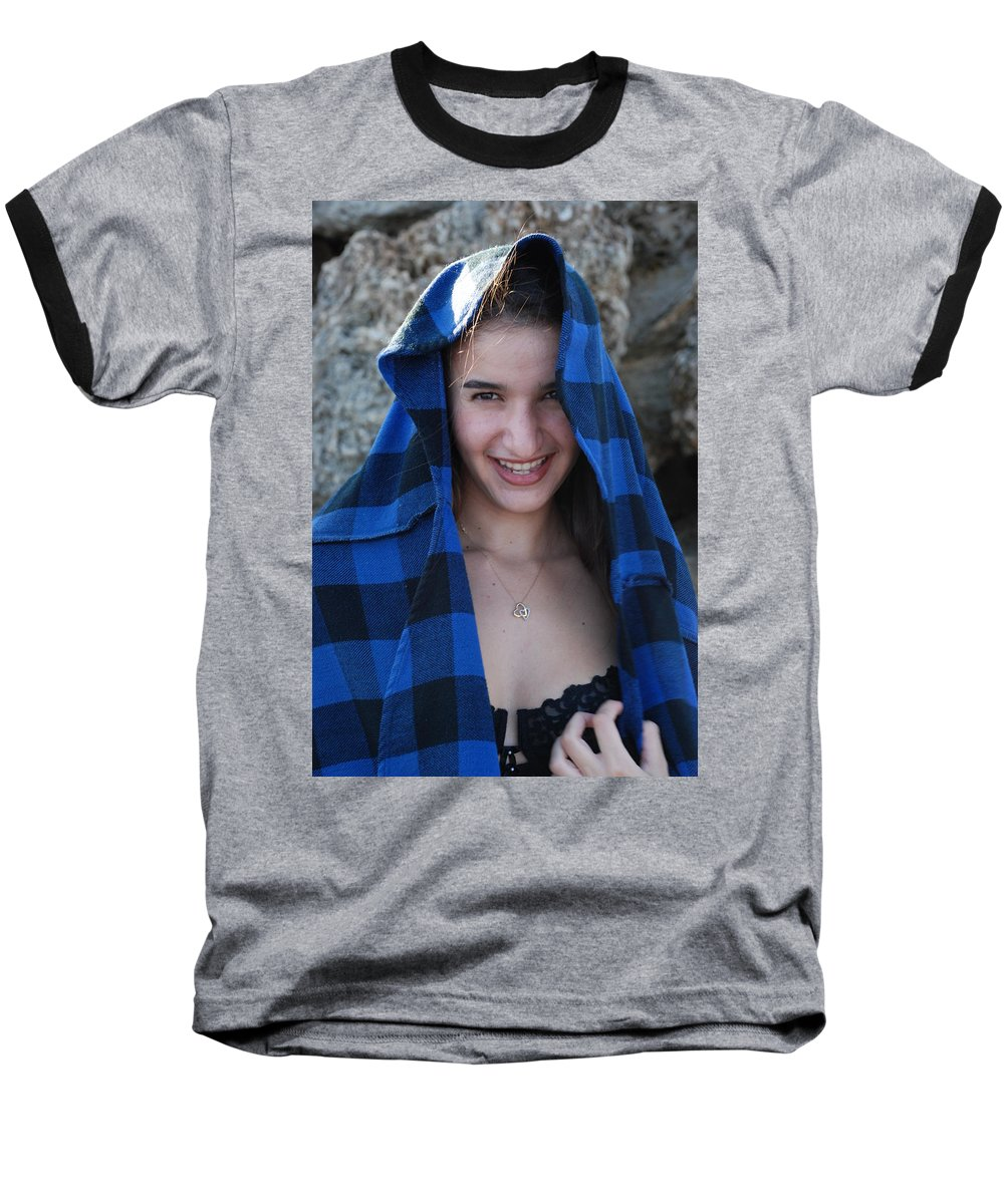 Woman Baseball T-Shirt featuring the photograph Gisele by Rob Hans