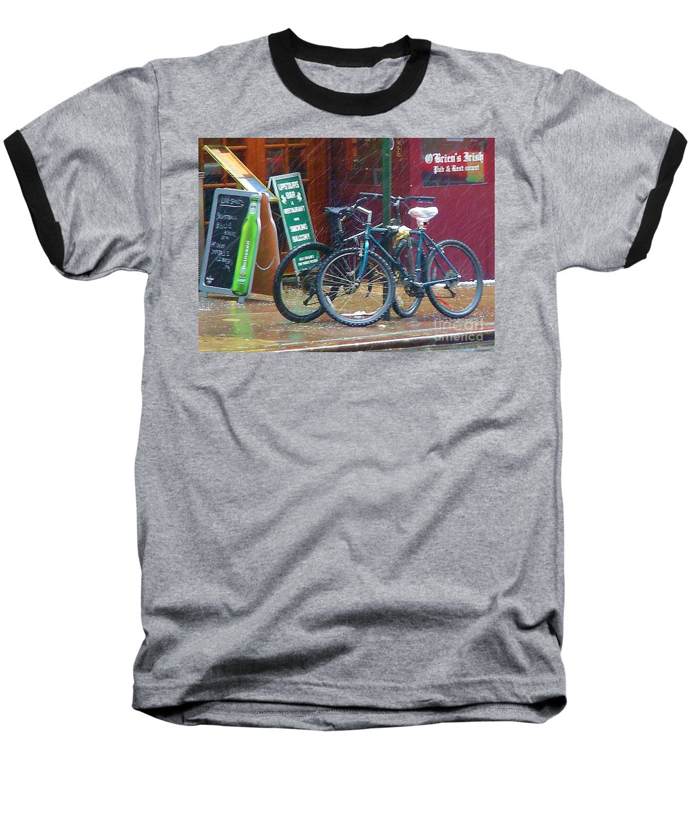 Bike Baseball T-Shirt featuring the photograph Give Me Shelter by Debbi Granruth