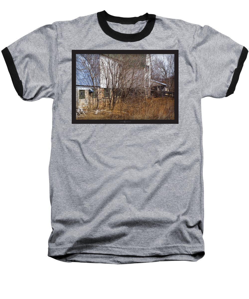 Barn Baseball T-Shirt featuring the photograph Glass Block by Tim Nyberg