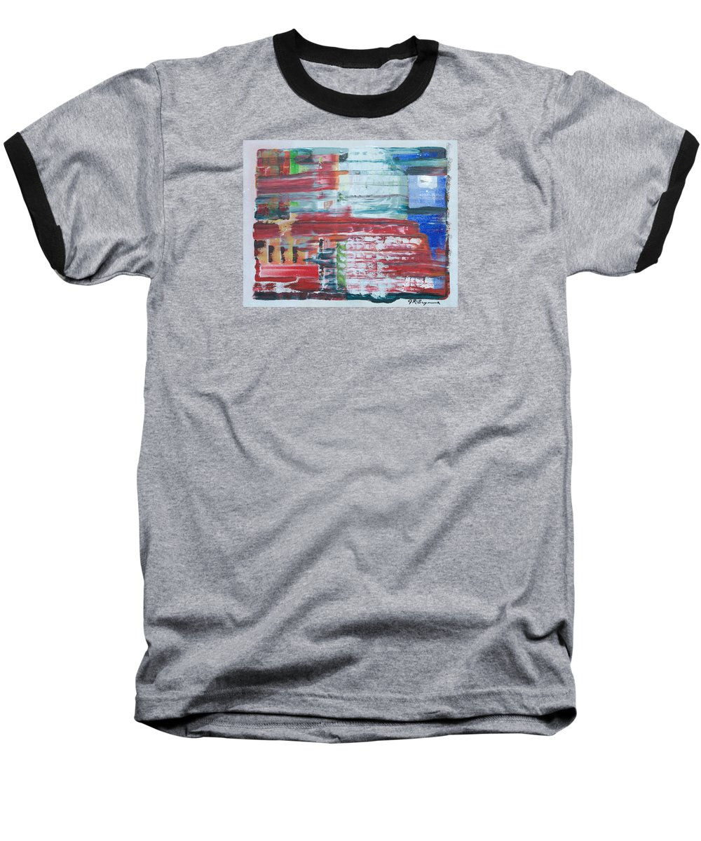 Impressionism Baseball T-Shirt featuring the painting Glass Blocks by J R Seymour