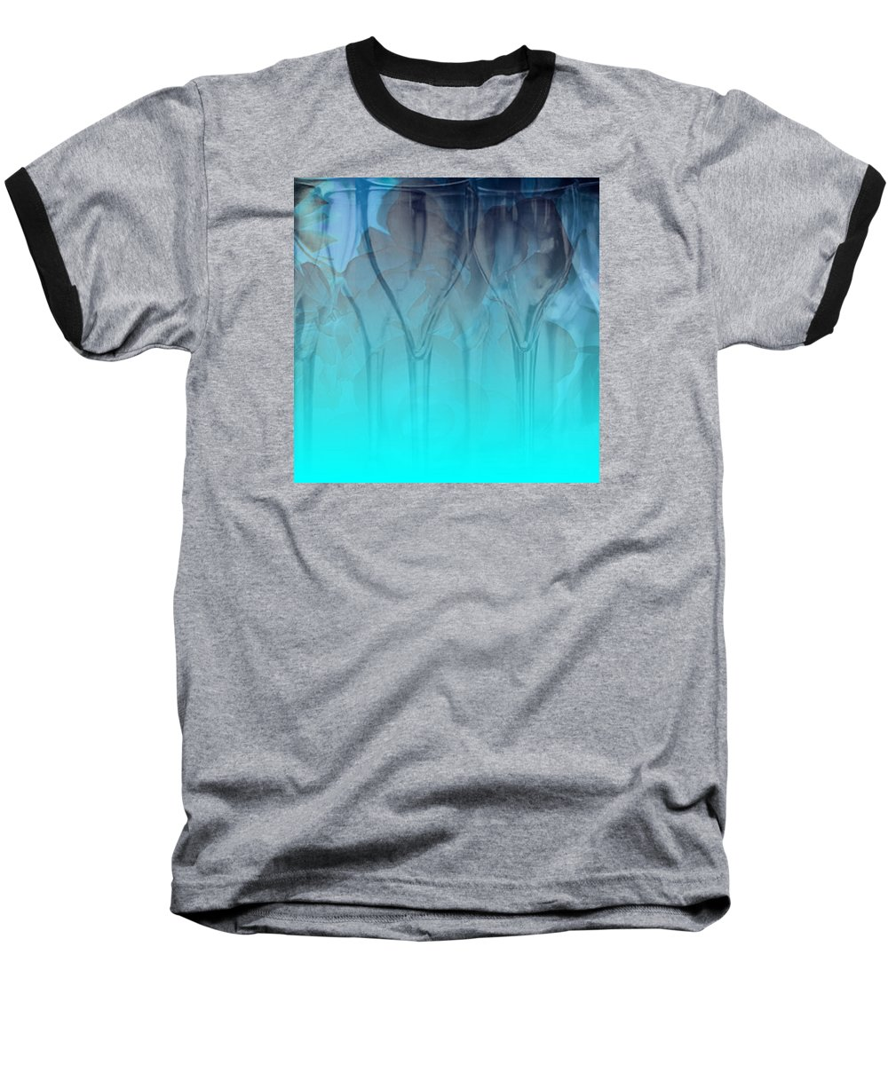 Glasses Baseball T-Shirt featuring the digital art Glasses Floating by Allison Ashton