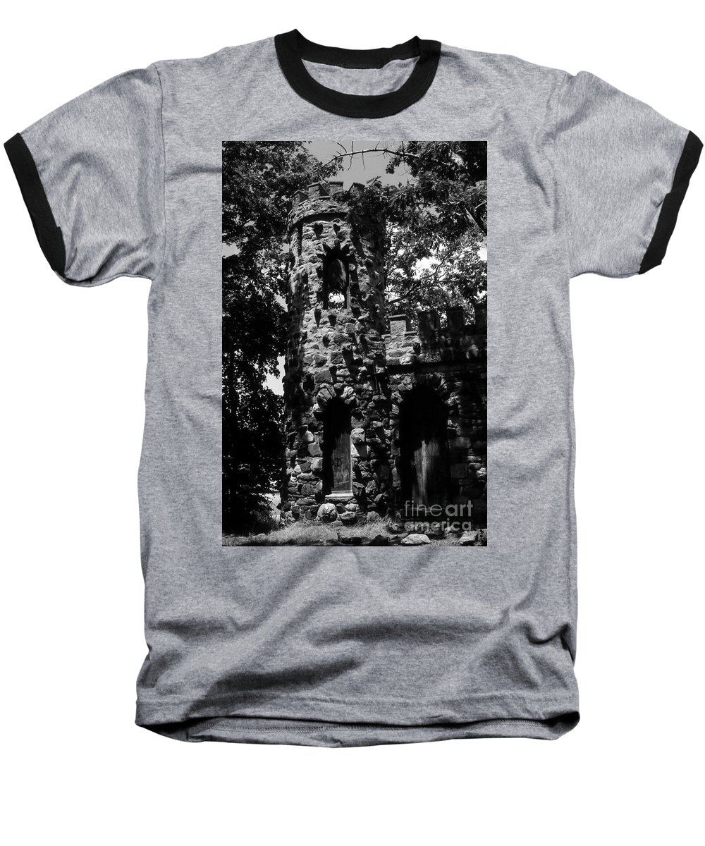 Castle Baseball T-Shirt featuring the photograph Glen Island Castle by Richard Rizzo