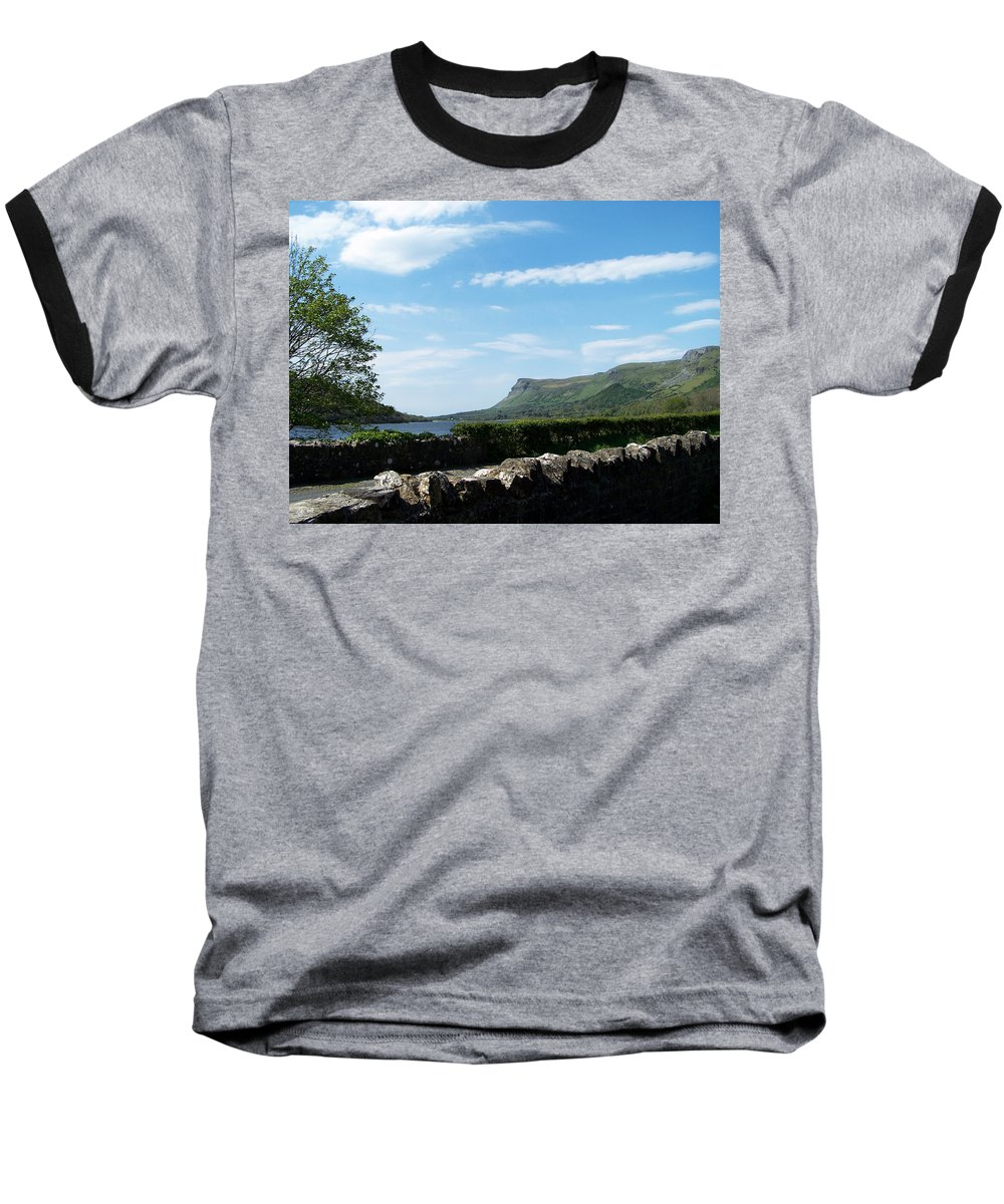Irish Baseball T-Shirt featuring the photograph Glencar Lake With View Of Benbulben Ireland by Teresa Mucha