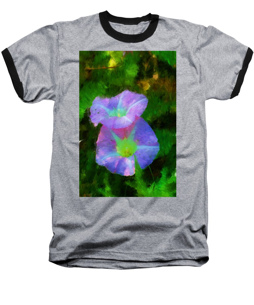 Floral Baseball T-Shirt featuring the painting Gloria In The Shade by David Lane