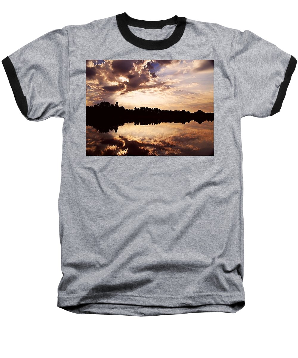Sunrise Baseball T-Shirt featuring the photograph Glorious Moments by Gaby Swanson