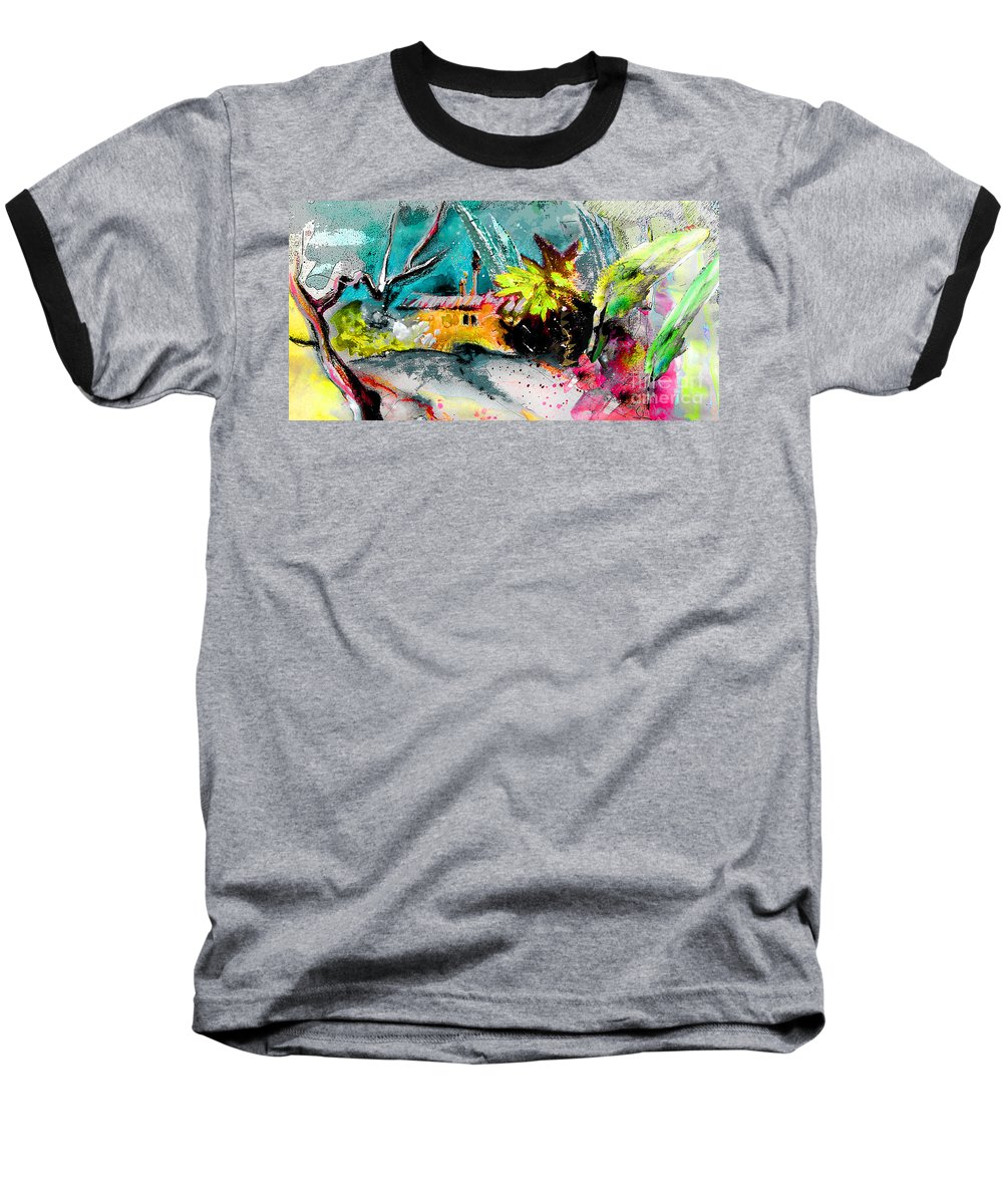 Pastel Painting Baseball T-Shirt featuring the painting Glory Of Nature by Miki De Goodaboom