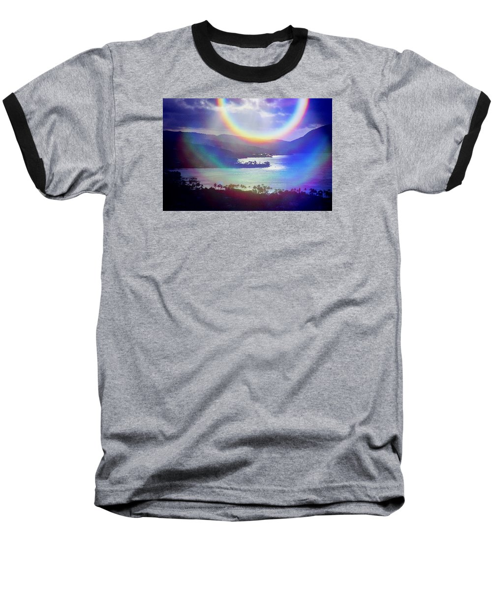Maunalua Bay Baseball T-Shirt featuring the photograph Gods Eye by Kevin Smith