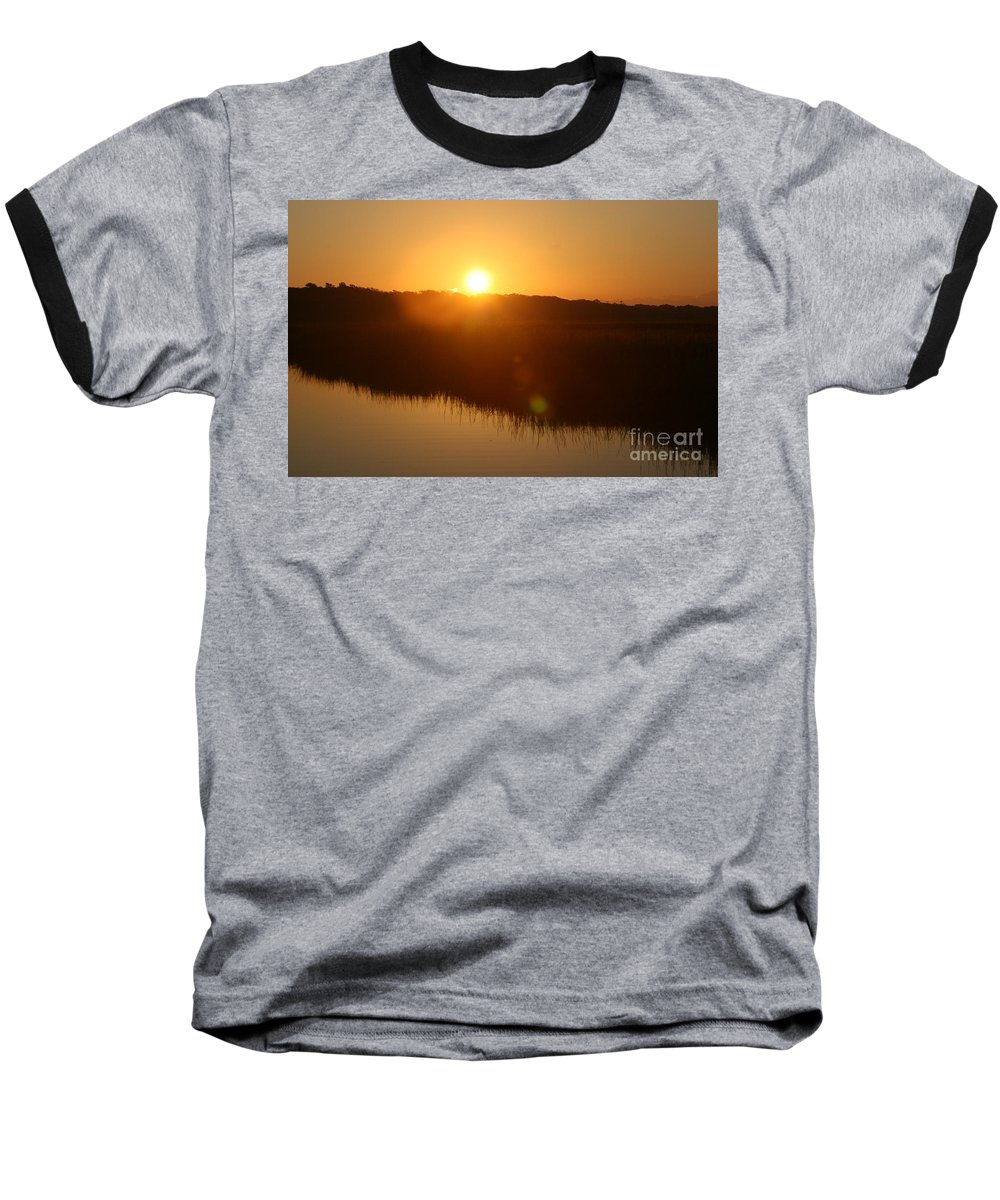 Glow Baseball T-Shirt featuring the photograph Gold Morning by Nadine Rippelmeyer
