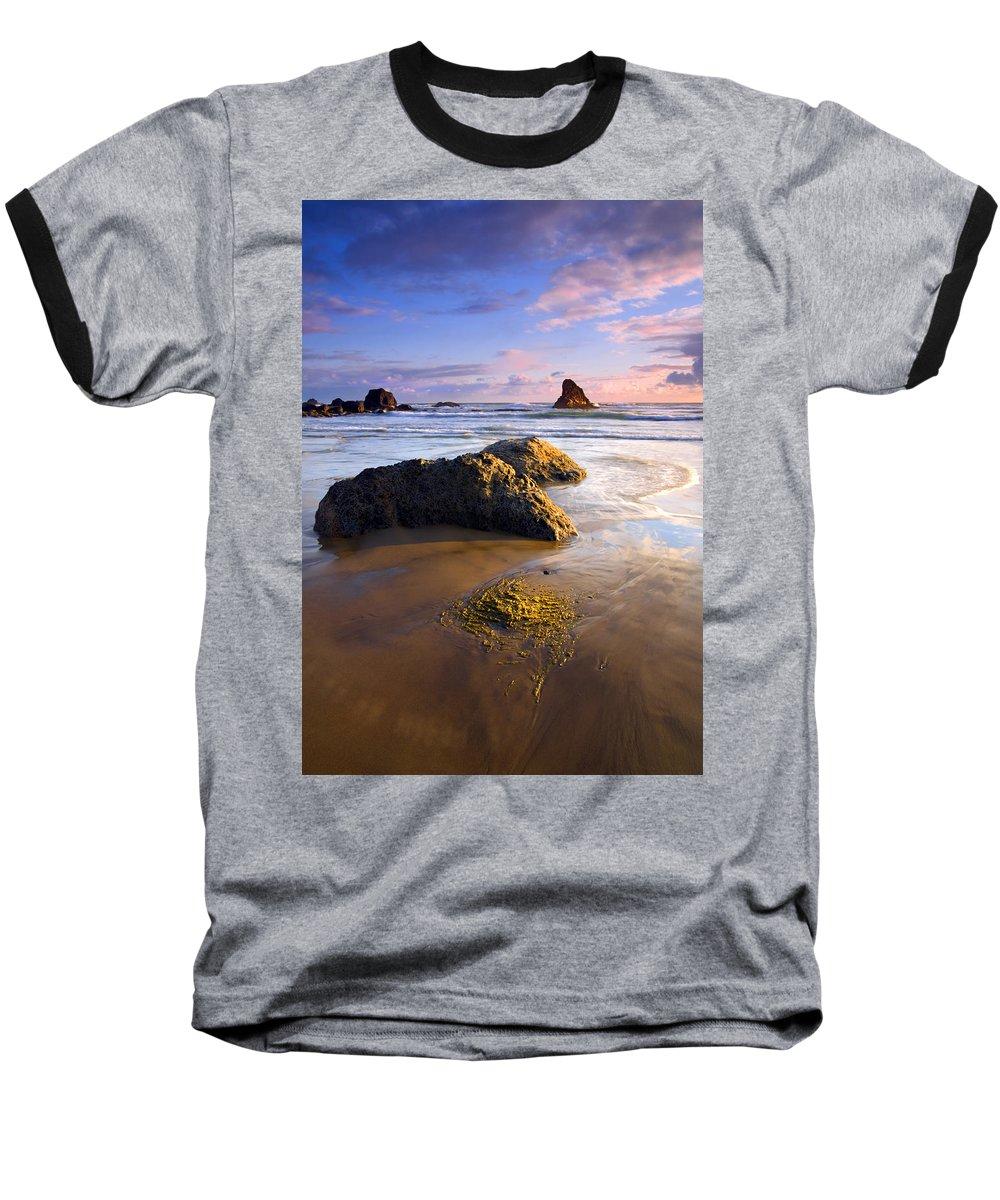 Beach Baseball T-Shirt featuring the photograph Golden Coast by Mike Dawson