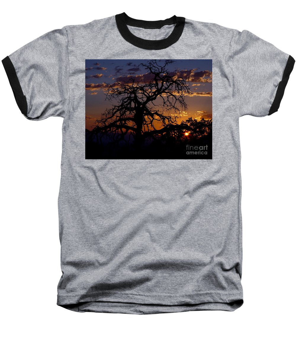 Sunset Baseball T-Shirt featuring the photograph Golden Hour by Peter Piatt