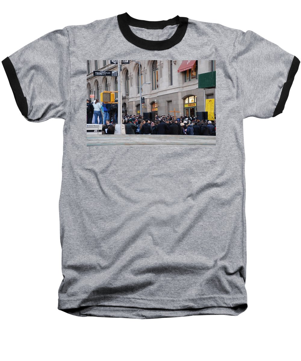 Church Baseball T-Shirt featuring the photograph Good Friday On Trinity Place by Rob Hans
