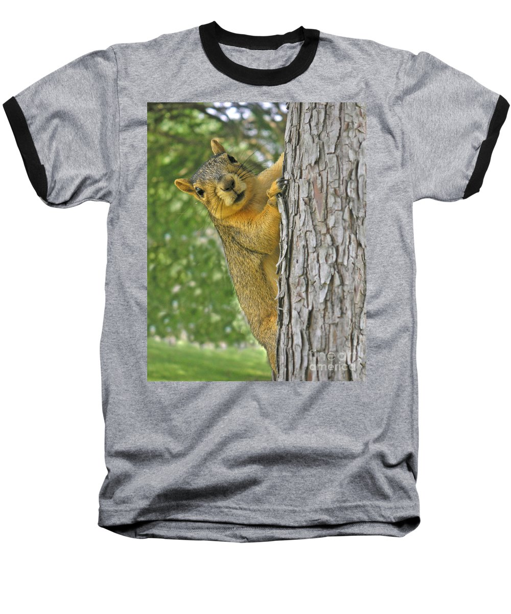 Nature Baseball T-Shirt featuring the photograph Good Morning by Lucyna A M Green