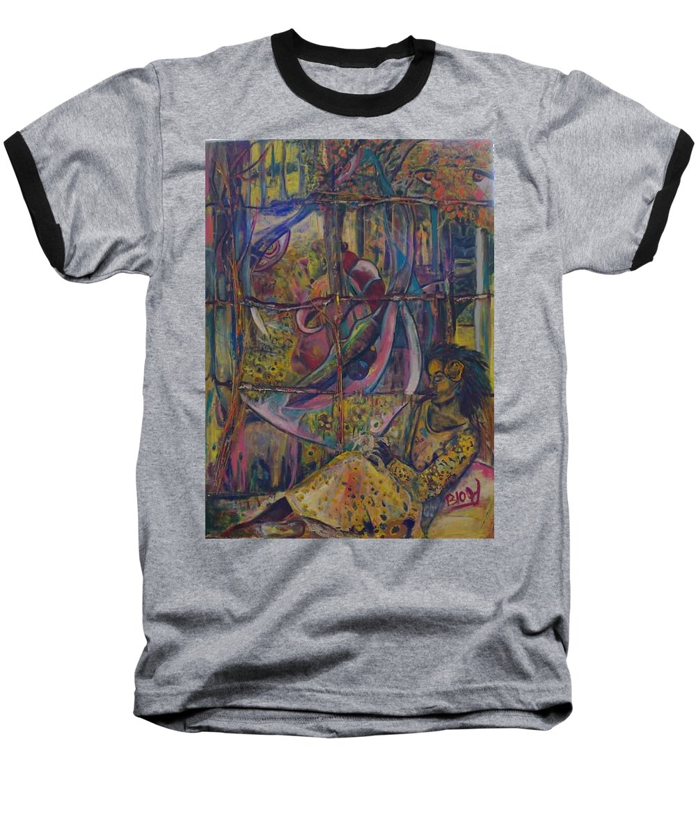 Mother Baseball T-Shirt featuring the painting Goodbye Sweet Dreams by Peggy Blood