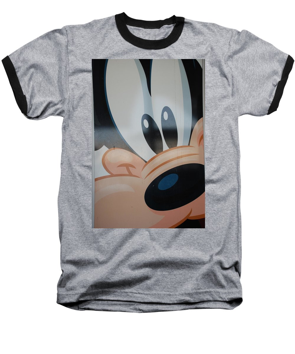 Disney Baseball T-Shirt featuring the photograph Goofy by Rob Hans