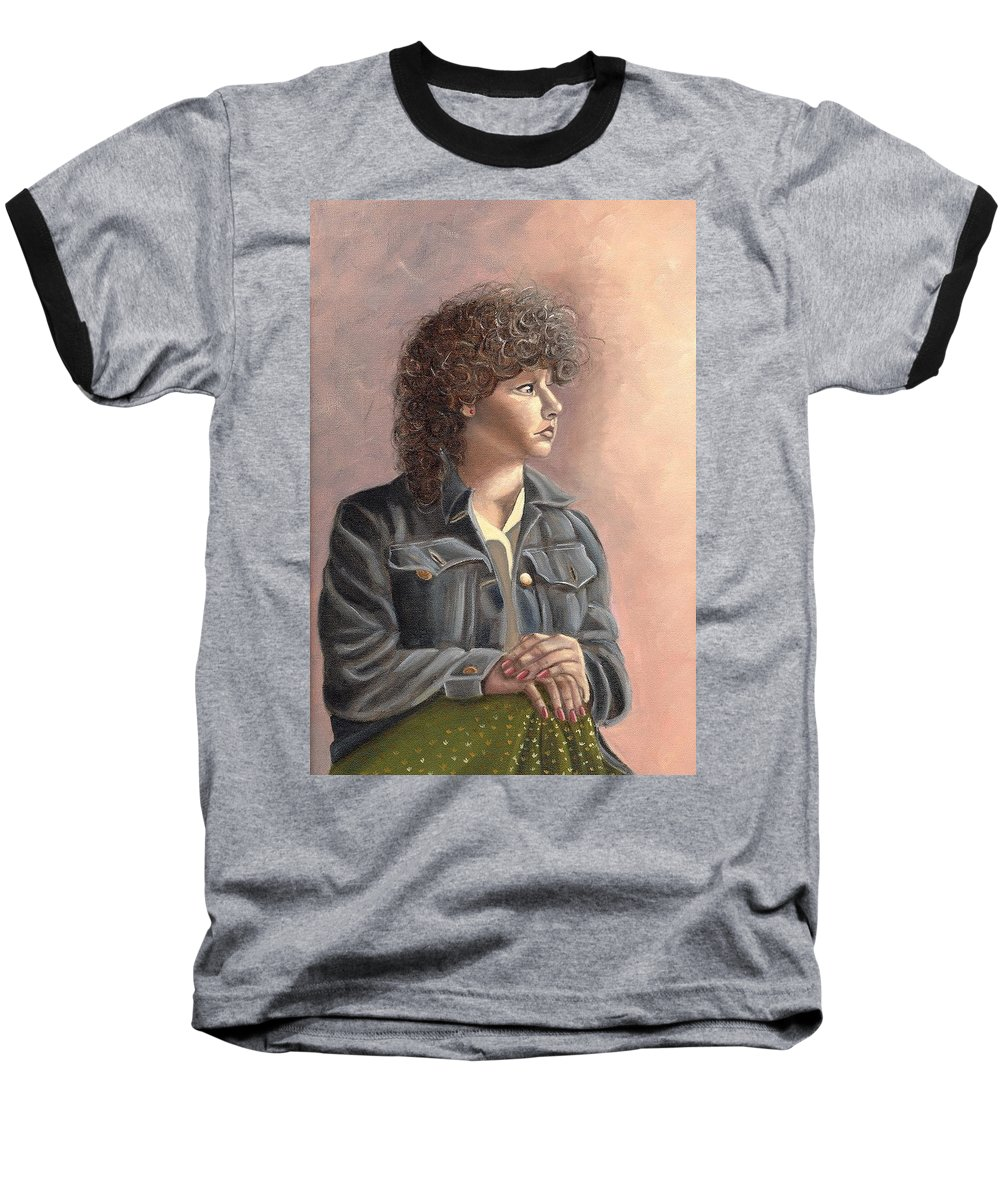 Baseball T-Shirt featuring the painting Grace by Toni Berry