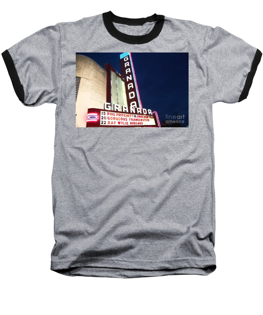 Music Baseball T-Shirt featuring the photograph Granada Theater by Debbi Granruth