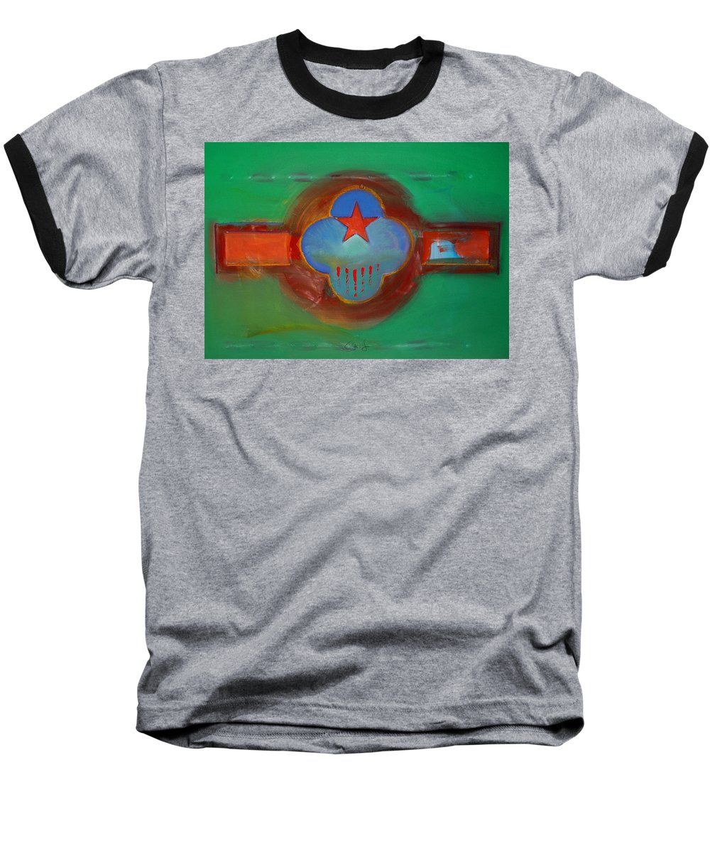 Star Baseball T-Shirt featuring the painting Grand Canal by Charles Stuart