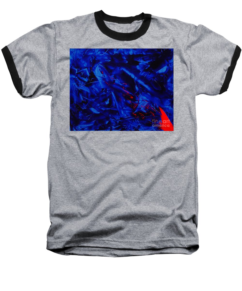Abstract Baseball T-Shirt featuring the painting Grandma IIi by Dean Triolo