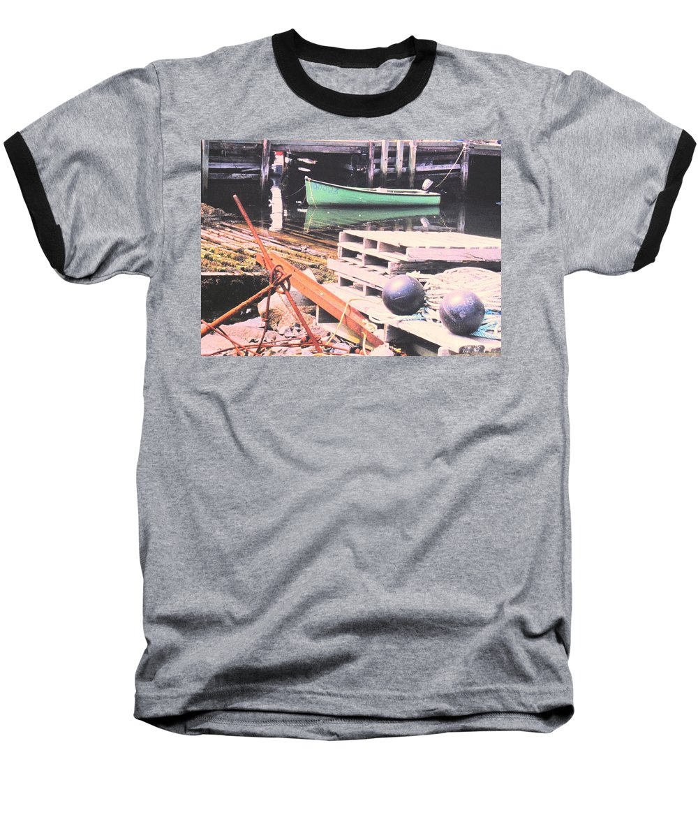 Green Baseball T-Shirt featuring the photograph Green Boat by Ian MacDonald