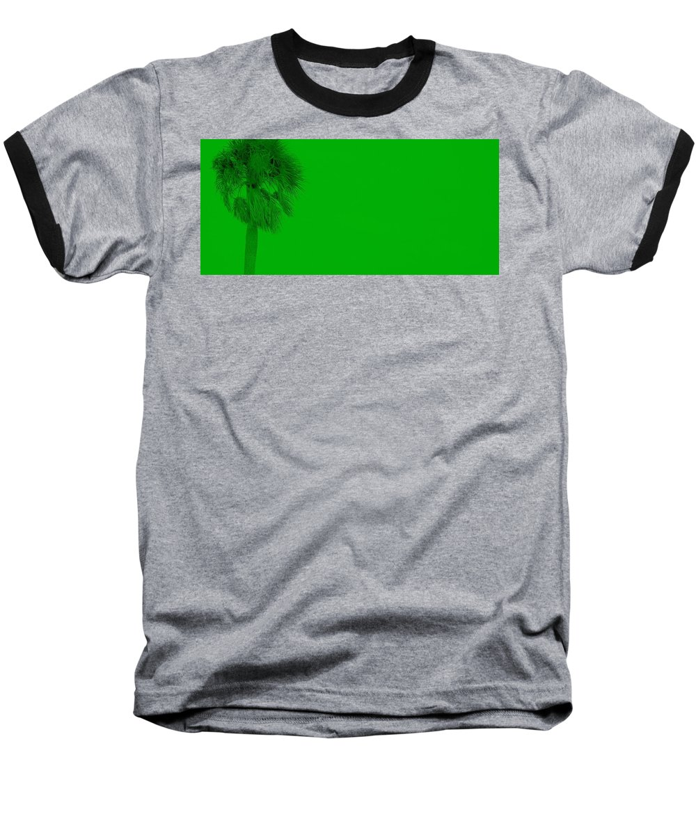 Landscape Baseball T-Shirt featuring the photograph Green Palm by Ed Smith