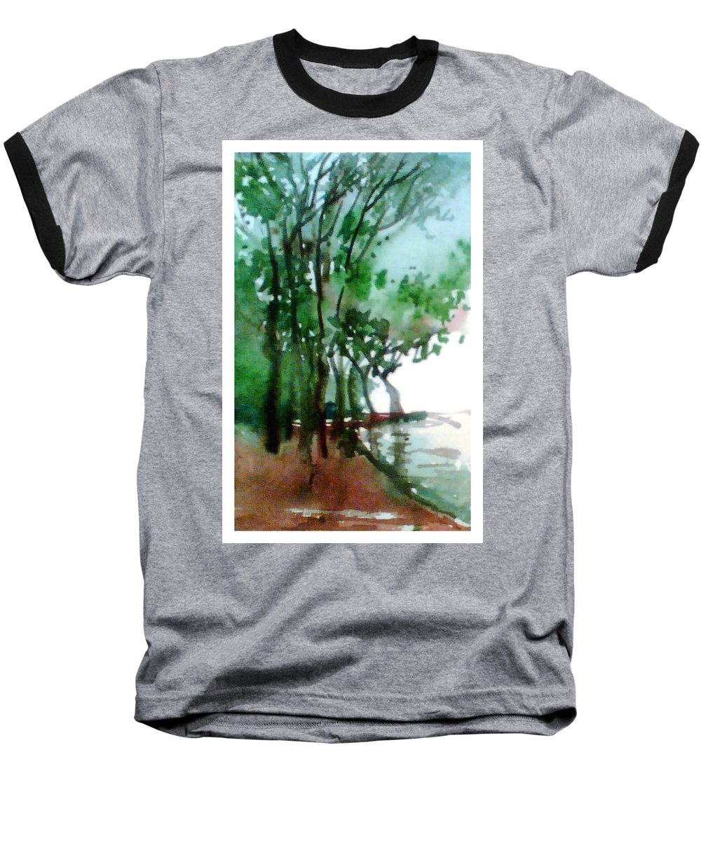 Water Color Baseball T-Shirt featuring the painting Greens by Anil Nene