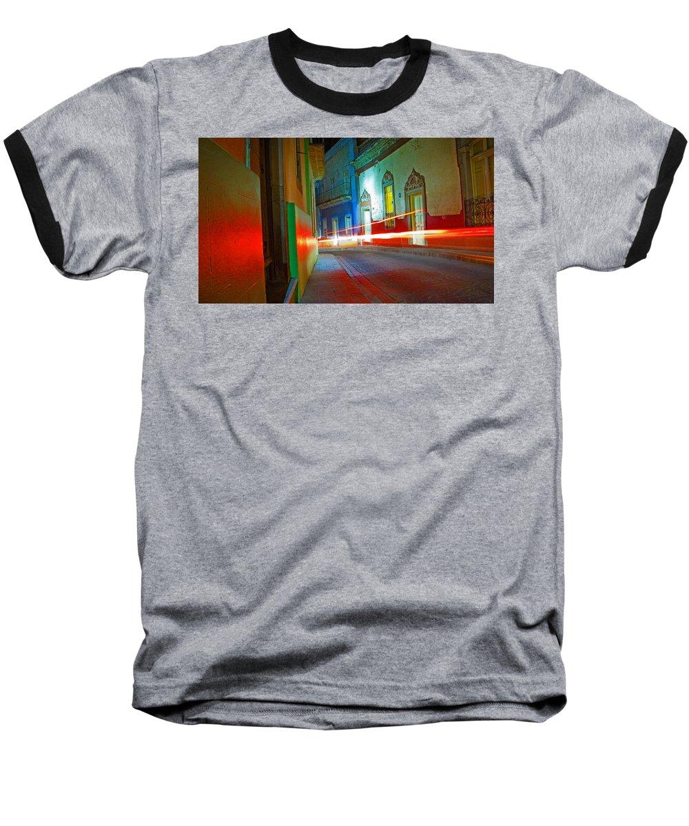 Shadow Baseball T-Shirt featuring the photograph Guanajuato Night by Skip Hunt