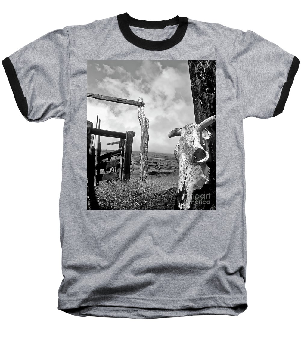 Black And White Baseball T-Shirt featuring the photograph Guardian Spirit by Jim Cazel