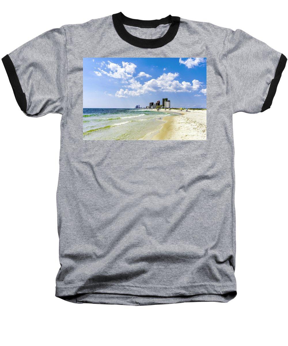 1746a Baseball T-Shirt featuring the photograph Gulf Shores Al Beach Seascape 1746a by Ricardos Creations