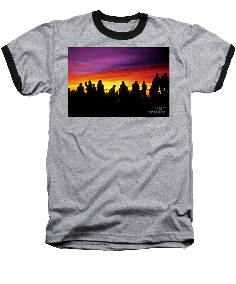 Haleakala Sunrise Baseball T-Shirt featuring the photograph Haleakala Color Show by Jim Cazel
