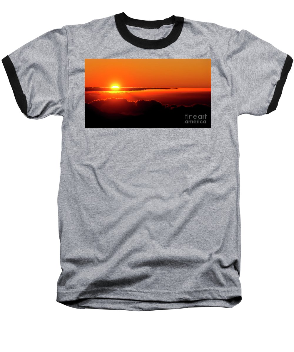 Sunrise Baseball T-Shirt featuring the photograph Maui Hawaii Haleakala National Park Sunrise IIi by Jim Cazel