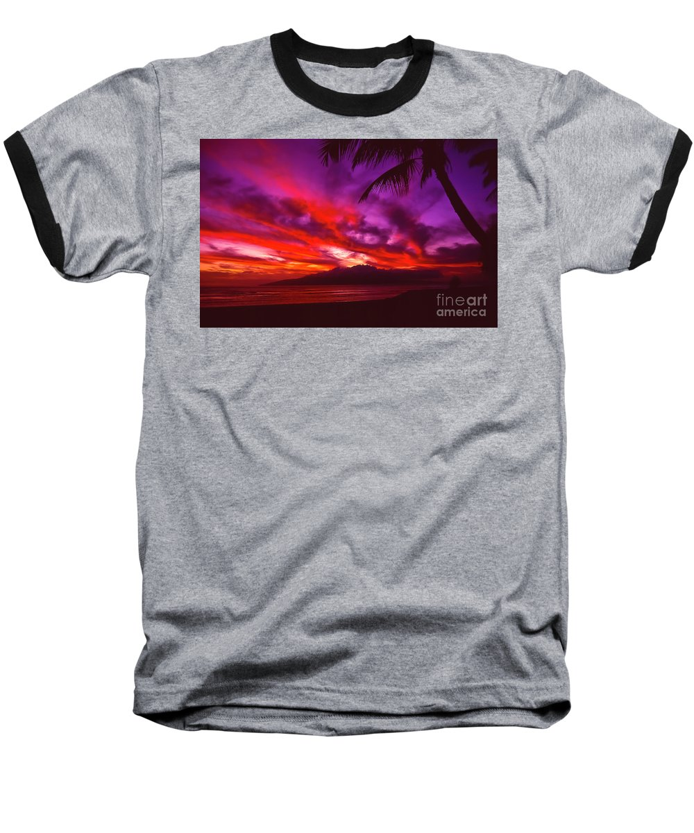 Landscapes Baseball T-Shirt featuring the photograph Hand Of Fire by Jim Cazel