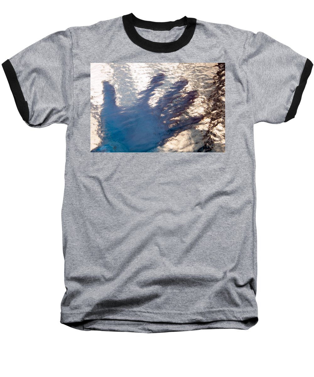 Clay Baseball T-Shirt featuring the photograph Hand Out by Clayton Bruster