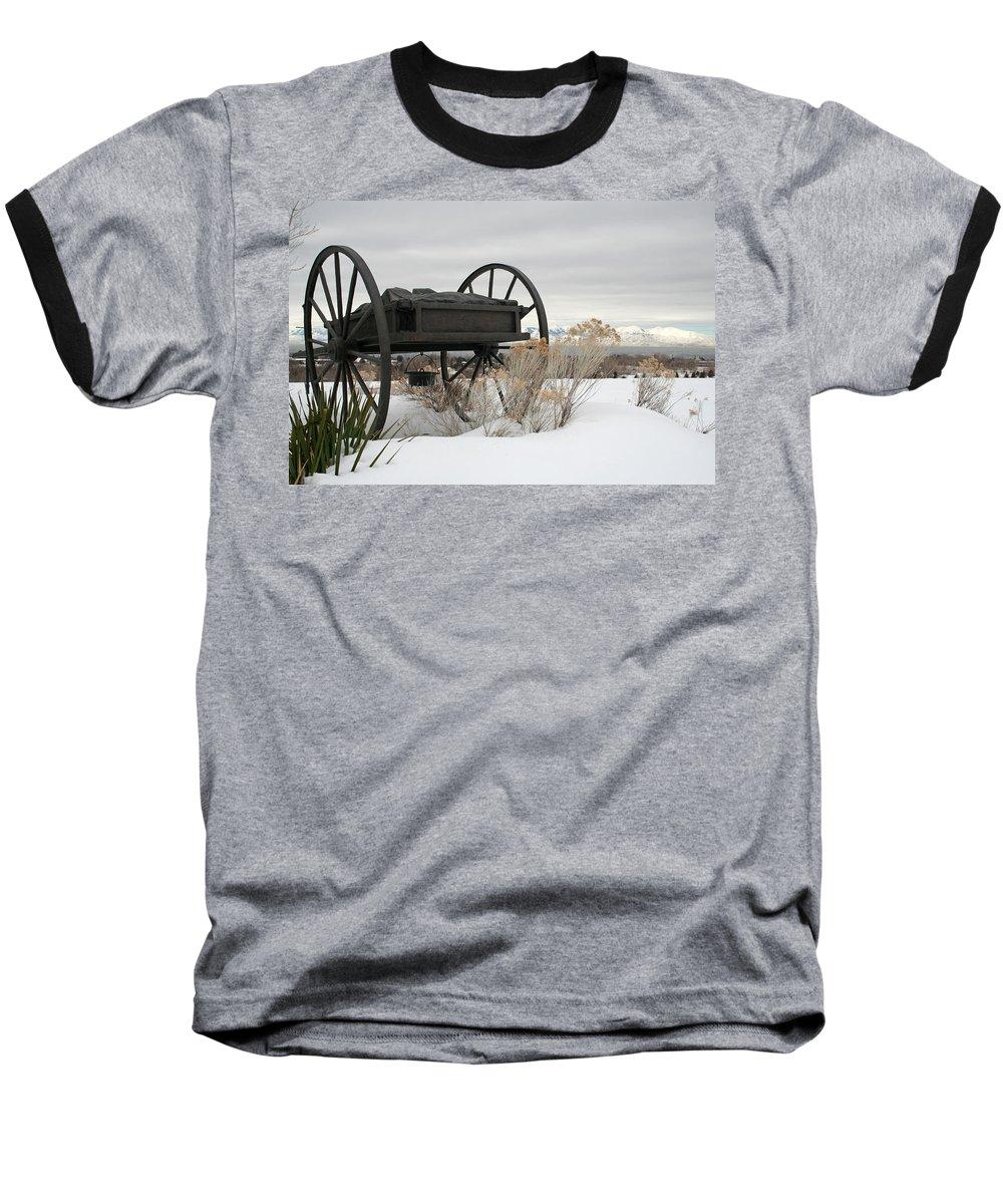 Handcart Baseball T-Shirt featuring the photograph Handcart Monument by Margie Wildblood