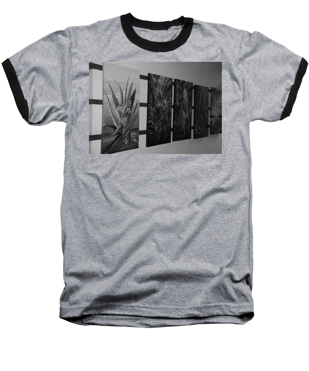 Black And White Baseball T-Shirt featuring the photograph Hanging Art by Rob Hans