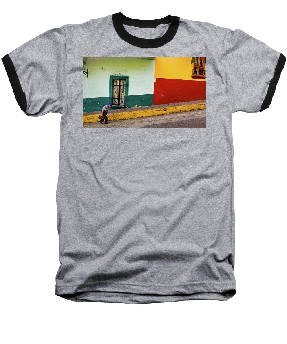 Man Baseball T-Shirt featuring the photograph Hard Knock Life by Skip Hunt