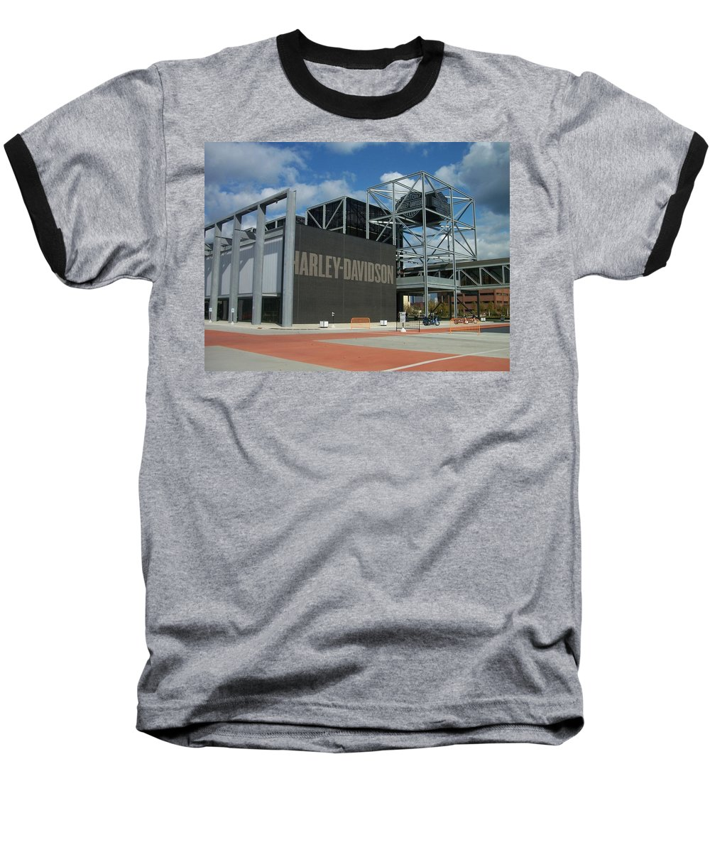 Baseball T-Shirt featuring the photograph Harley Museum by Anita Burgermeister