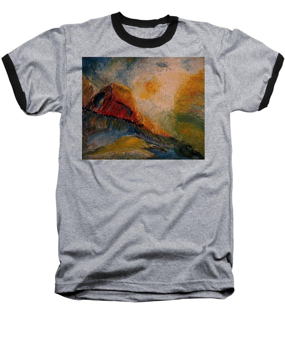 Rede Baseball T-Shirt featuring the painting Harvast by Jack Diamond