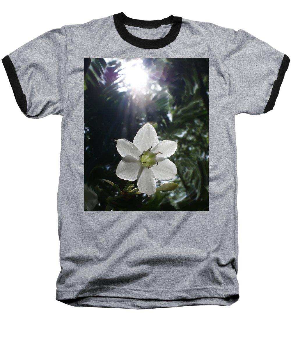 Hawaiian Baseball T-Shirt featuring the photograph Hawaiian Flower by Heather Coen