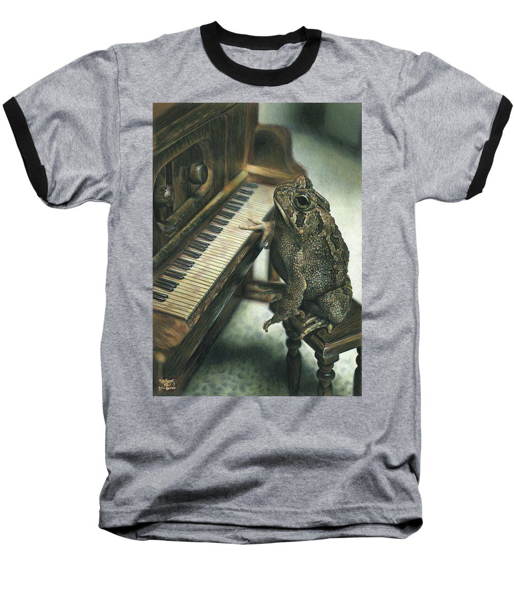 Heart Baseball T-Shirt featuring the drawing Heart Of The Symphony by Cara Bevan