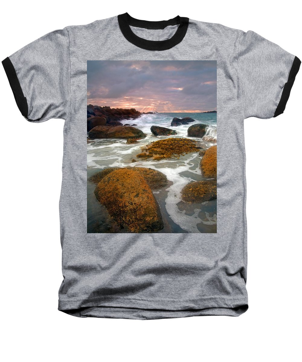 Sunrise Baseball T-Shirt featuring the photograph Heavenly Dawning by Mike Dawson