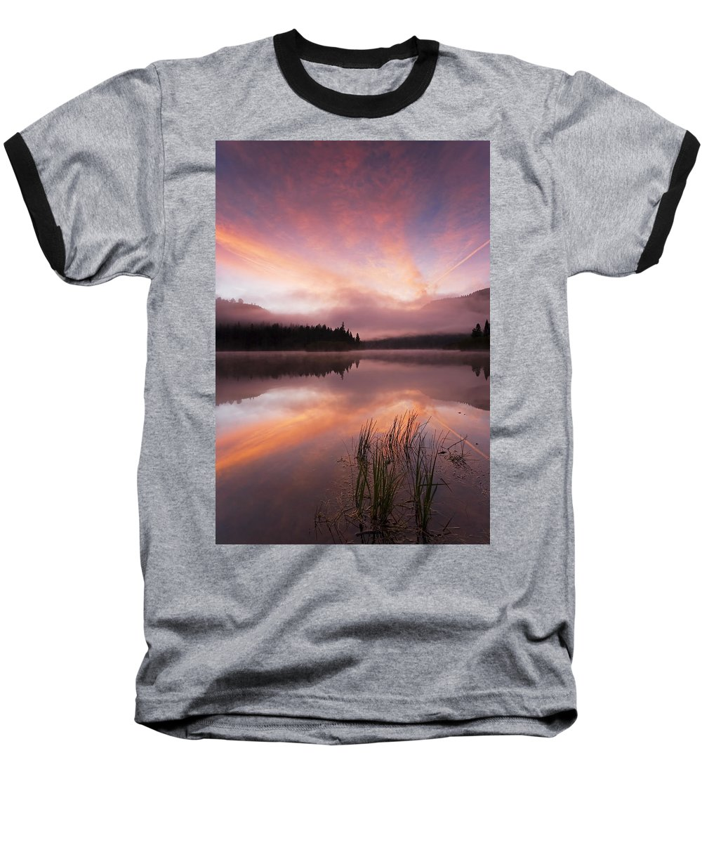 Sunrise Baseball T-Shirt featuring the photograph Heavenly Skies by Mike Dawson