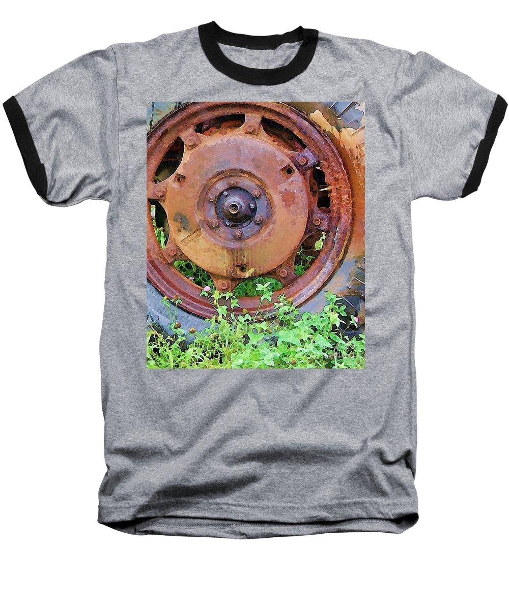 Rust Baseball T-Shirt featuring the photograph Heavy Metal by Debbi Granruth