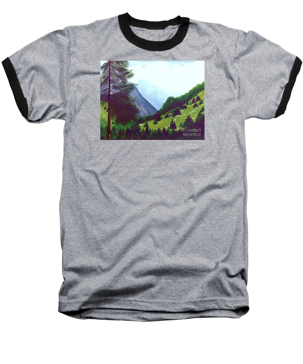 Original Painting Baseball T-Shirt featuring the painting Heidi's Place by Patricia Griffin Brett