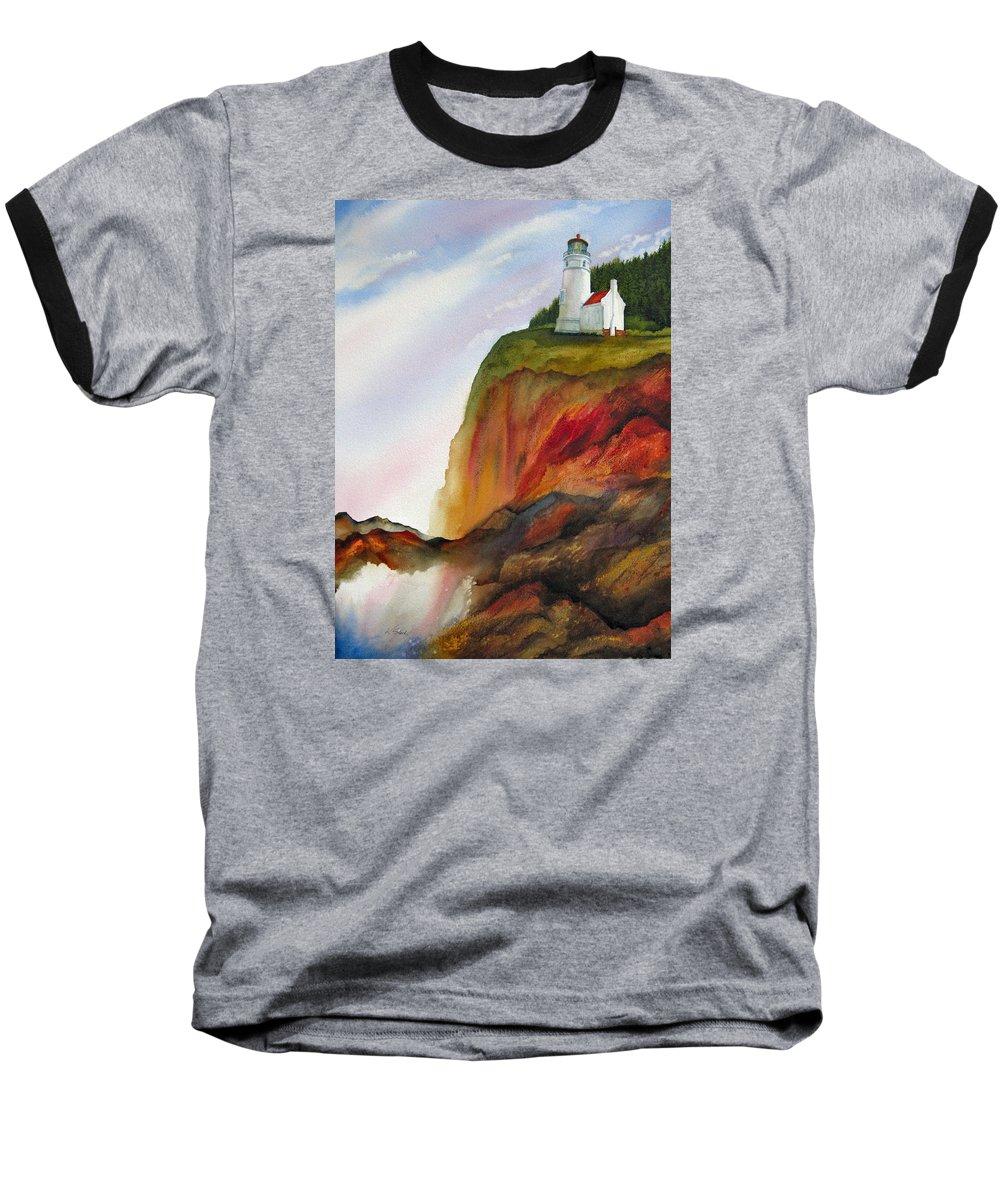 Coastal Baseball T-Shirt featuring the painting High Ground by Karen Stark