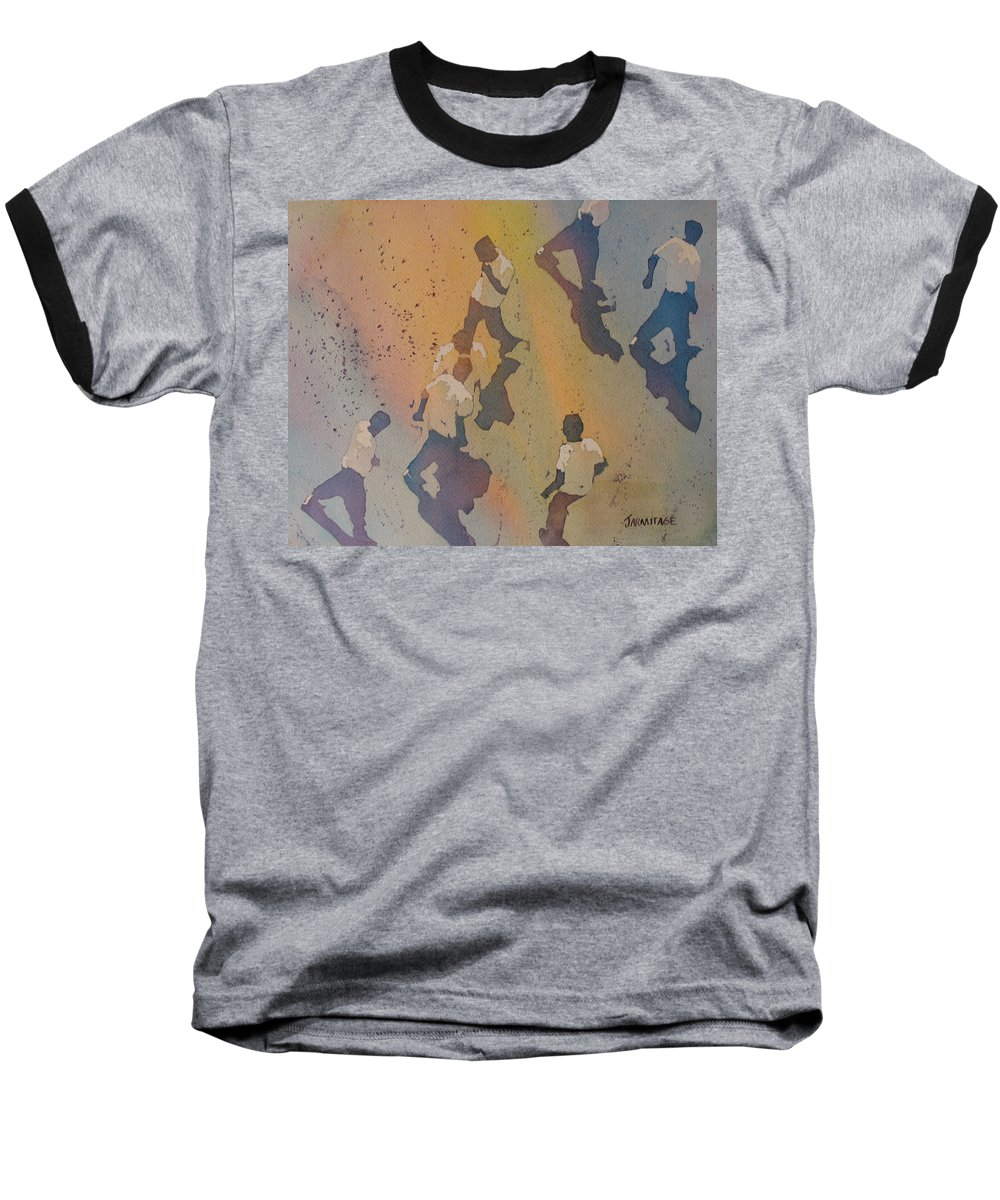 Men Baseball T-Shirt featuring the painting High Noon At The Gravel Spit II by Jenny Armitage