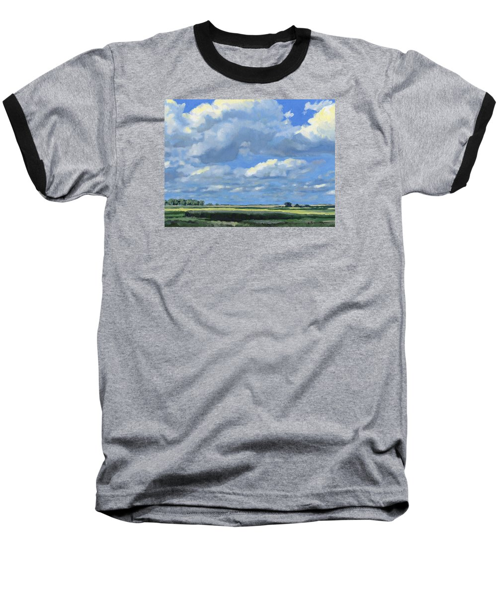 Landscape Baseball T-Shirt featuring the painting High Summer by Bruce Morrison