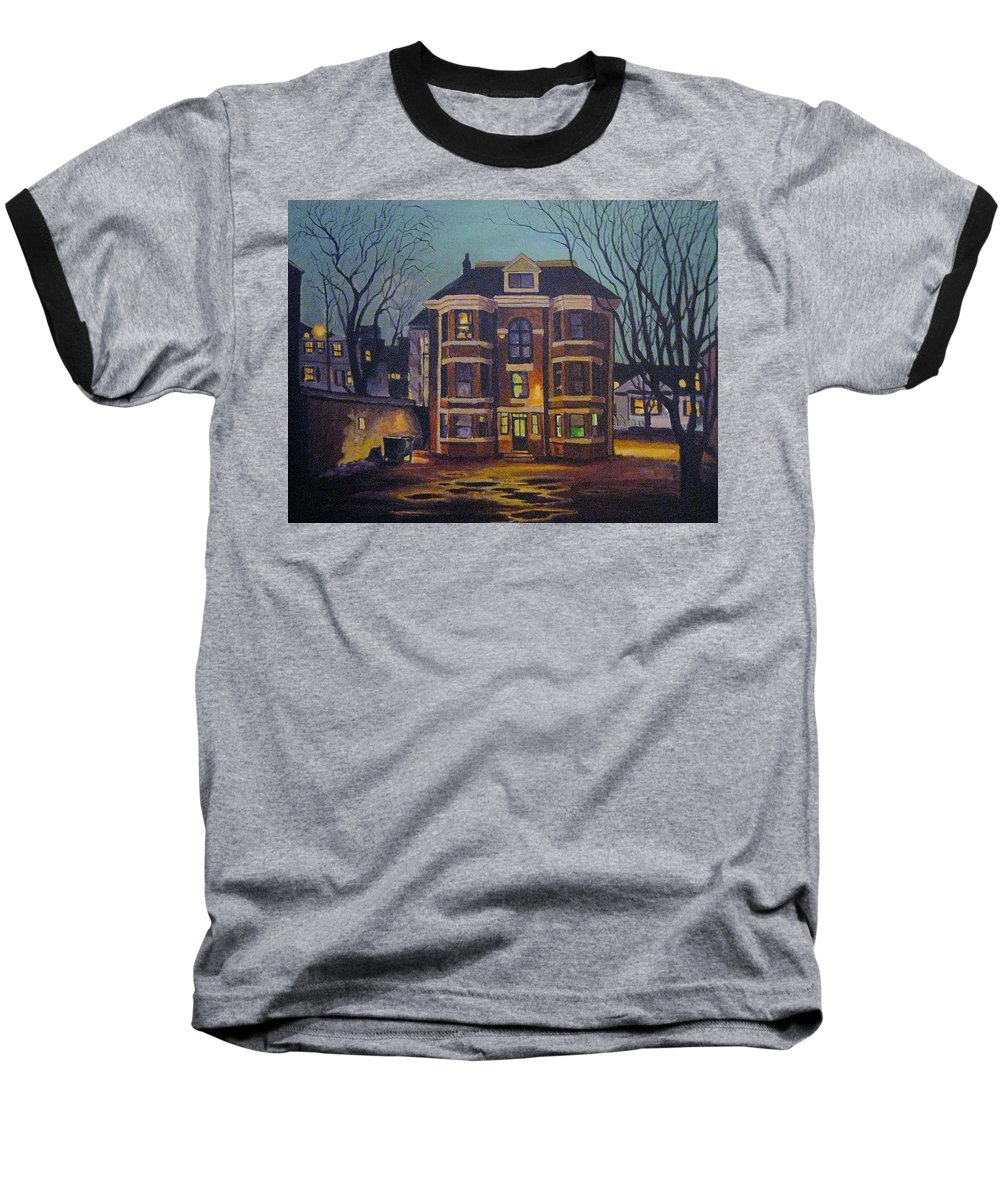 Moody Baseball T-Shirt featuring the painting Historic Property South End Haifax by John Malone