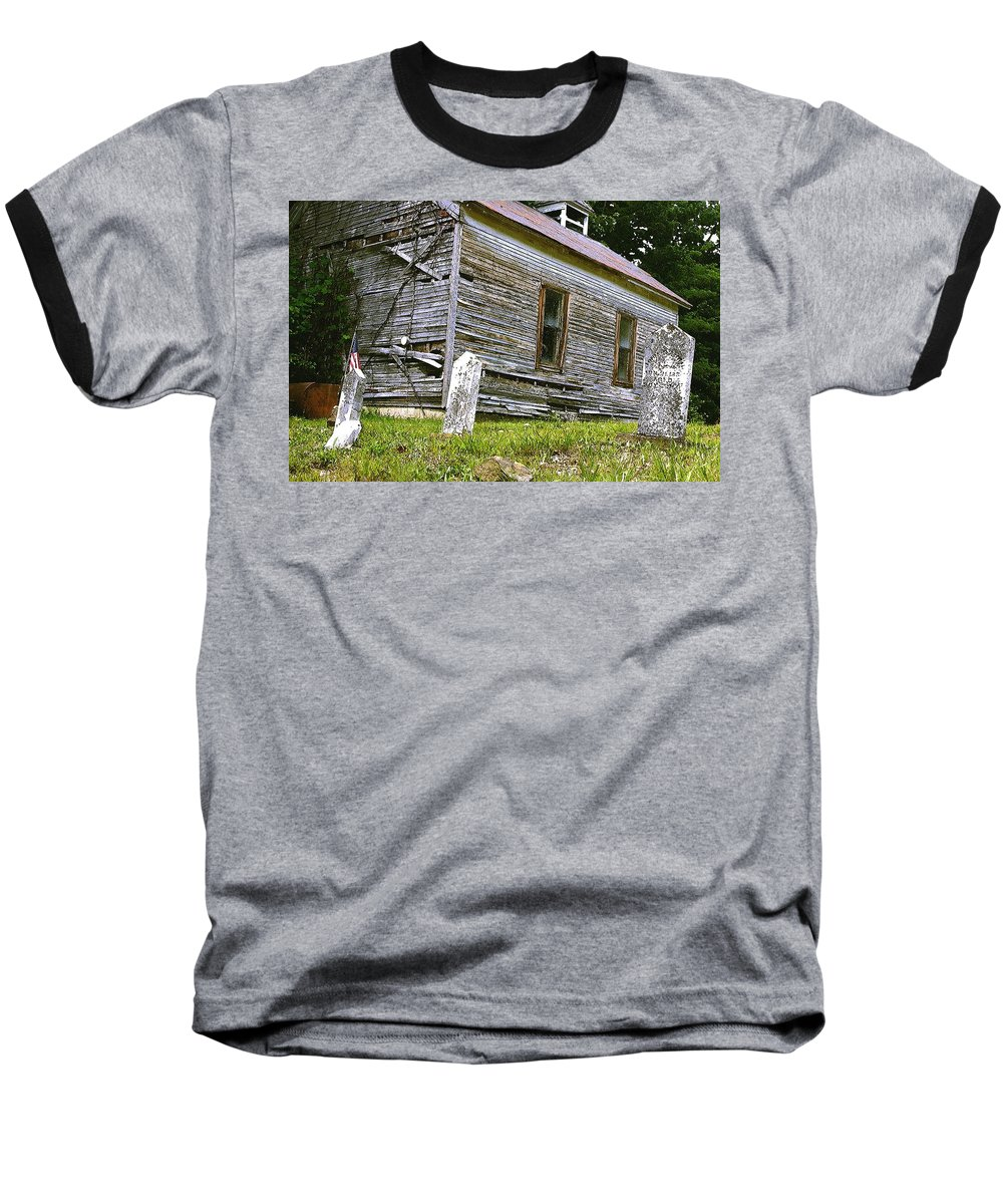 Church Baseball T-Shirt featuring the photograph Hocking Hills Church by Nelson Strong