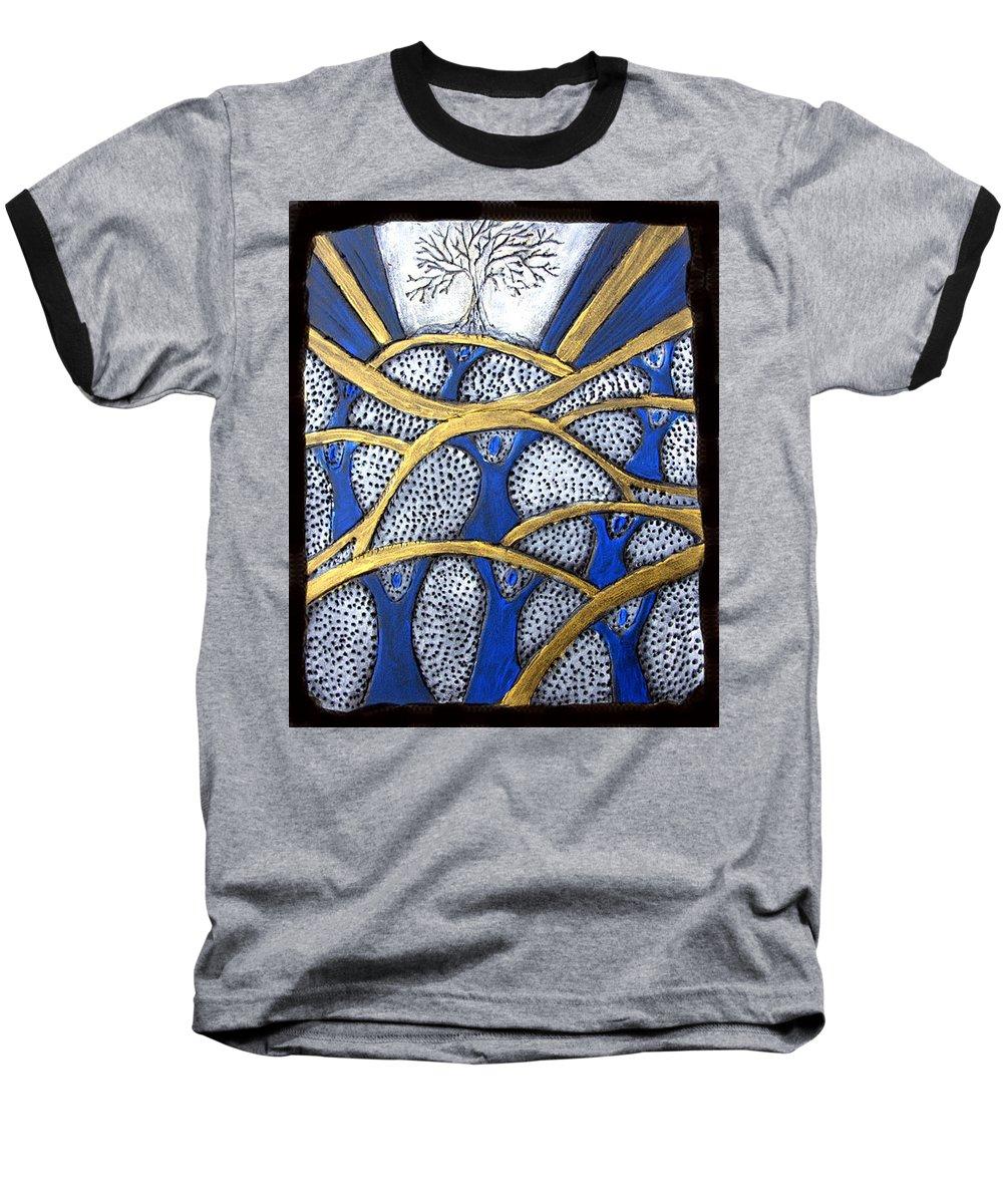 Tree Baseball T-Shirt featuring the painting Holding Up The Family Tree by Wayne Potrafka